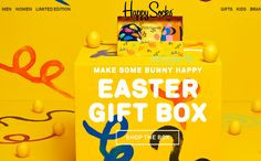 #Save 20% #off the #Easter #Gift #Box and get #FREE #Shipping only at HappySocks.com! Use Promo code: EASTER20 (Valid 4/5 ? 4/16)