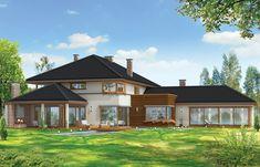 Projekt domu Willa z basenem Home Fashion, Bali, Villa, Floor Plans, Exterior, Mansions, House Styles, Modern, Home Decor