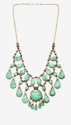 Natalie B Jewelry Natalie B Cassidy II Necklace in Green Turquoise