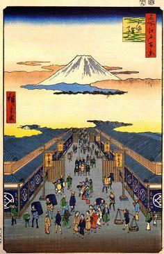 Hiroshige, cent vues d'Edo : Instantanés de Japon