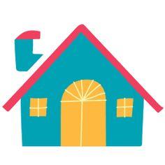 snow cap house- blue