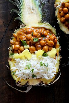 Vegan Chickpea Tikka Masala with Pineapple - Rich, healthy, flavorful, and…