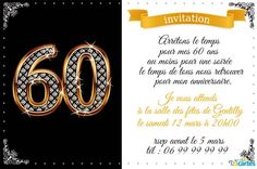 Modele Invitations Anniversaire Adulte 80 Ans Or Et Chocolat