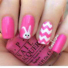 Easter nails. Bunny nails. #nails #easter