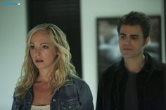 """The Vampire Diaries -- """"Stay"""" -- Image Number: -- Pictured (L-R): Candice Accola as Caroline and Paul Wesley as Stefan -- Photo: Annette Brown/The CW -- © 2015 The CW Network, LLC. All rights reserved. Vampire Diaries Stefan, Vampire Diaries Spoilers, Vampire Diaries Quotes, Vampire Diaries Seasons, Vampire Diaries The Originals, Caroline Forbes, Stefan E Caroline, Stefan Salvatore, Nina Dobrev"""