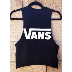 Vans tank top ($16) ❤ liked on Polyvore featuring tops, shirts, vans tank, vans shirts, blue tank top, blue shirt and ripped shirts