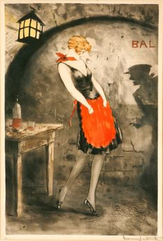 louis icart. also, i want her outfit.