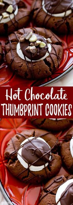 Hot Chocolate Thumbprint Cookies. #Christmas #cookie_swap