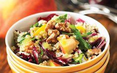 Peach, Radicchio and Quinoa Salad