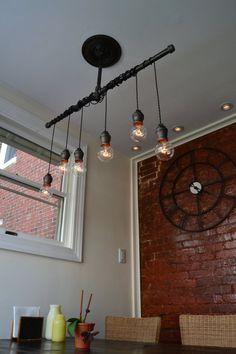 Plafonnier lustre pendentif industrielle par WestNinthVintage