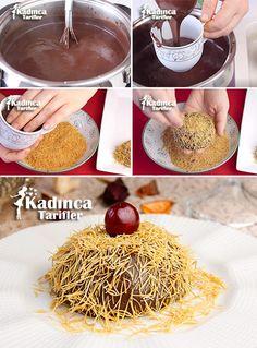 Samanlıdağ Tatlısı Recipe, How to - - Mini Desserts, Chocolate Desserts, Healthy Desserts, Pasta Cake, My Recipes, Favorite Recipes, Mini Cheesecakes, Iftar, Turkish Recipes