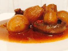 Μαγειρεύοντας με τον Χάρη: Στιφάδο μανιταριών Greek Recipes, Sausage, French Toast, Stuffed Mushrooms, Breakfast, Food, Lenten, Recipe Ideas, Kitchens