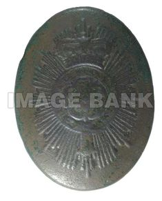 Beltplate of the 7th Regiment of Foot, Royal Fusilers, fought at New Orleans.