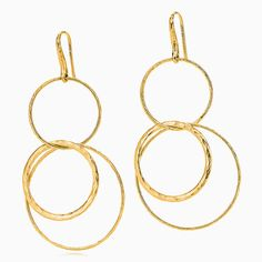 Paloma Picasso® Hammered Circles earrings in 18k gold.