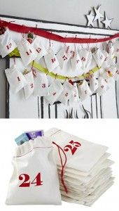 {Christmas Countdown Goodie Bags | Land of Nod} How adorable are these?!?