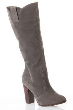 Knee High Chunky Heel Boot.