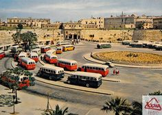 Old bus station and entrance to Valletta Old Pictures, Old Photos, Glasgow Subway, Malta Bus, Malta Italy, Malta Holiday, Malta Valletta, Malta Gozo, Malta Island