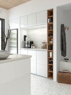 Bucătăria METOD îți arată cum va fi fiecare dimineață! Fiecare mic dejun va fi mai bun pentru următorii 25 de ani - garantăm pentru asta. Bucătăria METOD este o investiție atât pentru casă cât și pentru viața de zi cu zi. Armoire, Shelving, Kitchen Design, Bookcase, Home Decor, Brown, Ikea Kitchen, New Kitchen, Drawer