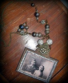 Friends  Vintage Assemblage Necklace  MyValentineJewels on etsy