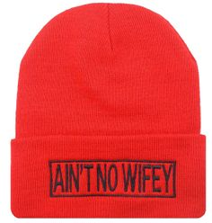 $14.99  AIN'T NO WIFEY Cuffed Beanie Hat Hip Hip Beanies  by DaisysOutlet