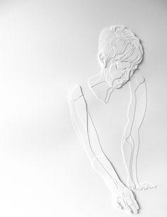"Joey Bates | poaceae | 2010 | cut paper | 16"" x 22"""