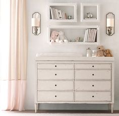 Shabby Chic Baby Room Shelves Here are 33 adorable nursery ideas for you! Super cute baby boy nursery room ideas - I LOVE a rustic nursery - for boys OR for girls! Chic Baby Rooms, Baby Bedroom, Baby Room Decor, Nursery Room, Girl Nursery, Girl Room, Nursery Decor, Nursery Ideas, Girls Bedroom
