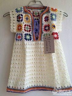 Delicadezas en crochet Gabriela: Vestido de niña en crochet