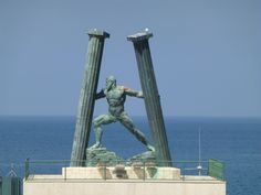 The statue of Hercules symbolizes unity of Europe and Africa. Description from dragonkiteschool.com. I searched for this on bing.com/images