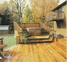 This would be awesome, hot tub with semi-privacy fence