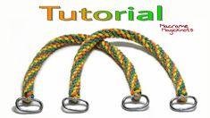 How to Make Easy Macrame Bag Handles DIY / Spiral Macrame Bag Handles – Macrame Diy Makeup Bag Tutorial, Handbag Tutorial, Diy Handbag, Macrame Tutorial, Bracelet Tutorial, Diy Bag Handles, Magic Knot, Crochet Market Bag, Crochet Bags