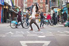 Get silly - dance in the street - 30 Engagement Photo Ideas  <3 <3