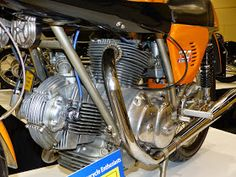 OldMotoDude: 1974 Ducati GT Sport 750 at the 2014 International Motorcycle Show -- Vintage Motorcycle Enthusiasts display -- Seattle