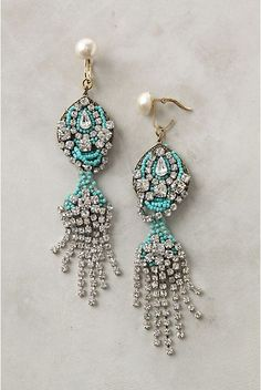 Anthropologie...you slay me. My 3 favorite things-pearls, turquoise and diamonds.