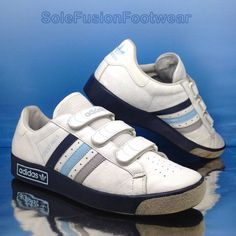 the best attitude 2c263 e2235 adidas Originals Mens Forest Hills Trainers White blue Size 8 SNEAKERS US  8.5 42 for sale online   eBay