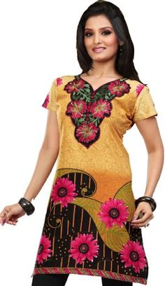 Indian Tunic Top Womens Kurti Cotton Embroidered Blouse India Clothes for only $28.99 You save: $11.00 (28%)  #MapleClothing