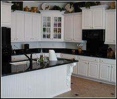 Wonderful White Kitchen Cabinets With Black Countertops More Design  http://ameliefairley.com