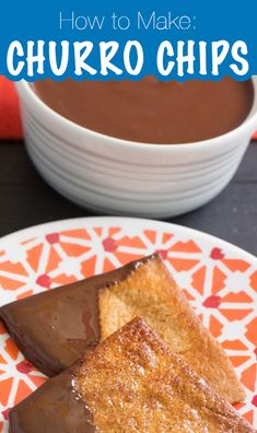 Don't forget dessert for your Cinco de Mayo meal! It's simple and easy to toss these Churro Chips together. They pair well with Mexican Chocolate Sauce! Churro Chips, Mexican Chocolate, Churros, Treat Yourself, French Toast, Forget, Meal, Treats, Dinner