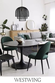 Amsterdam Apartment, Dining Chairs, Dining Table, Suspension Metal, Living Comedor, Interior Decorating, Interior Design, First Home, Luxury Living