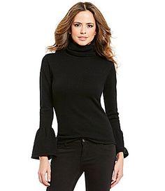 Gianni Bini Eloise Bell Sleeve Turtle Neck Sweater #Dillards