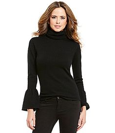 Gianni Bini Eloise Bell Sleeve Turtle Neck Sweater #Dillards