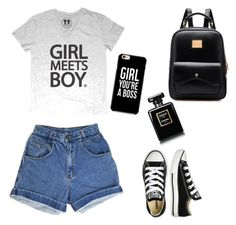 """Summer look"" by jurcevicleona ❤ liked on Polyvore featuring Converse"