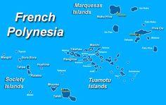 Map of French Polynesia. Society Islands: Bora Bora, Typuai, Tahaa, Tetiaroa, Raiatea, Huahine, Tahaa, Moorea, Maiao, Maupiti, Tupuai, Tahiti, Papeete Tuamotu: Mtaiva, Tikehau, Rangiroa, Manihi, Fakarava, Arutua, Apataki, Kaukura, Anaa, Hao, Nukutavake Astral Islands: Rimatara, Rurutu, Tubuai, Rapa, Raiavavae. Marquesas: Ua Huka, Ua Pou, Hiva Oa, Tahuata, Fatu Hiva.