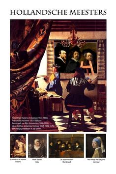 The old dutch masters united in the atelier of Vermeer. Perspectives on art by Henk van Os, via Behance