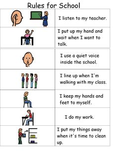 autism classroom rules - Google Search