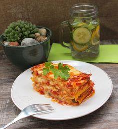 Cuketové lasagne (fotorecept) - Recept Food And Drink, Vegan, Ethnic Recipes, Lasagna, Vegans