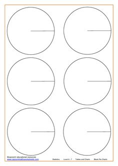Blank Pie Charts 10 sections | school | Pinterest | Pie charts ...