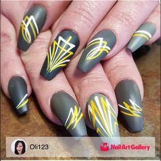Pinstriping by Oli123 via Nail Art Gallery #nailartgallery #nailart #nails…