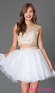 Buy Two Piece Illusion Dress by Alyce 4437 at PromGirl