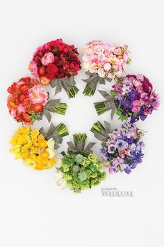 WedLuxe – Colour Theory | Follow @WedLuxe for more wedding inspiration! Bouquets by Rachel Clingen