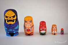 Awesome Pop Culture-Inspired Nesting Dolls by Andy Stattmiller - Neatorama
